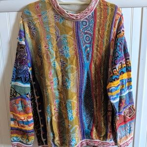 {coogi} authentic colorful rainbow sweater